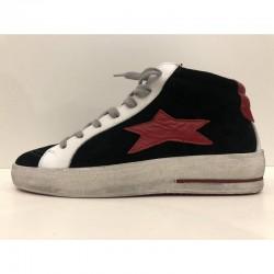 Sneaker Mid Plus nero stella rosso - Ishikawa