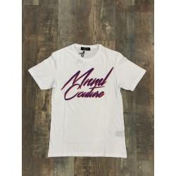 """T-shirt con ricamo gommato """"MINIMAL COUTURE"""""""