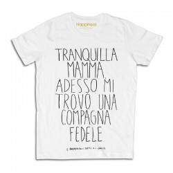 "t-shirt Compagna fedele M1397 ""HAPPINESS"""