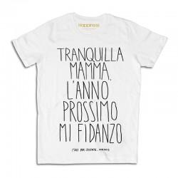 """t-shirt L'anno prossimo mi fidanzo M1398 """"HAPPINESS"""""""