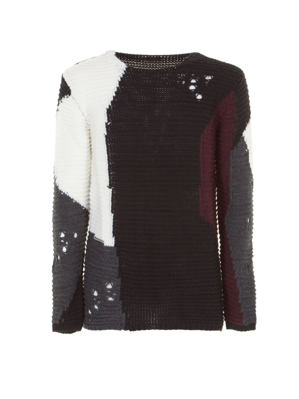 l'ultimo d530a 88633 maglione-distroyed-M3614ENIK-imperial-uomo