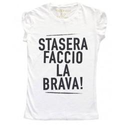 """T-shirt Stasera Faccio La Brava W1019 """"HAPPINESS"""""""
