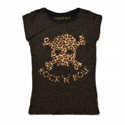 T-SHIRT STRASS HAPPINESS