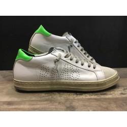 Sneaker Basse E7JOHN WHITE-GREEN P448