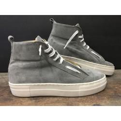 Sneaker Alta BL 15 Suede Grigio BL Shoes