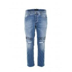 Jeans Rotture Scritte P372MVAD03 Imperial Fashion