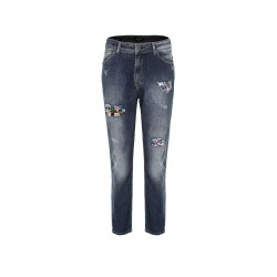 Jeans con pietre multicolore - Imperial Fashion