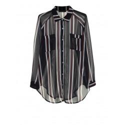 Camicia velata a righe - Please Fashion